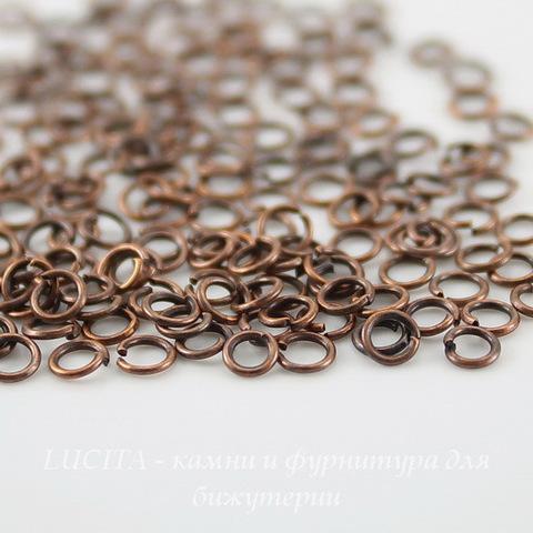 Комплект колечек одинарных 3х0,6 мм (цвет - античная медь), примерно 2000 штук ()