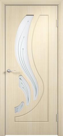 Дверь Верда Лиана, цвет беленый дуб, остекленная