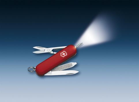 Нож-брелок Victorinox Classic Signature Lite, 58 мм, 7 функ, красный  (0.6226)
