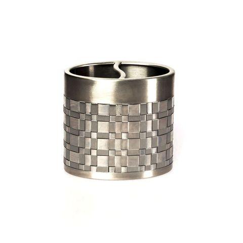 Стакан для зубных щёток Basketweave Silver от Avanti