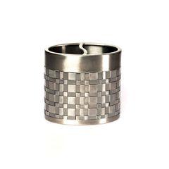 Стакан для зубных щёток Avanti Basketweave Silver