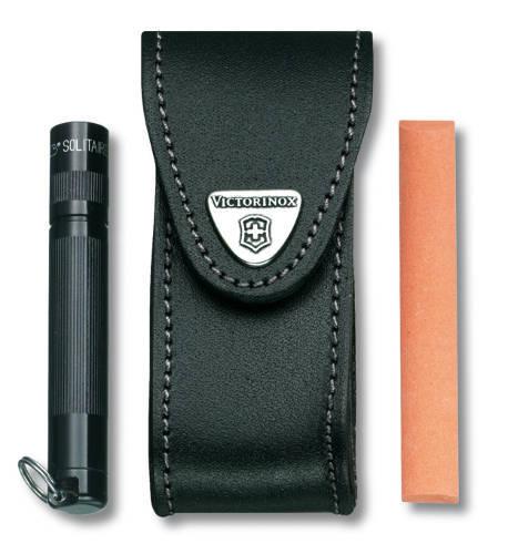 Чехол кожаный черный с застежкой Velkro (шт.) 4.0520.32, для Swiss Army Knives or EcoLine 91 mm