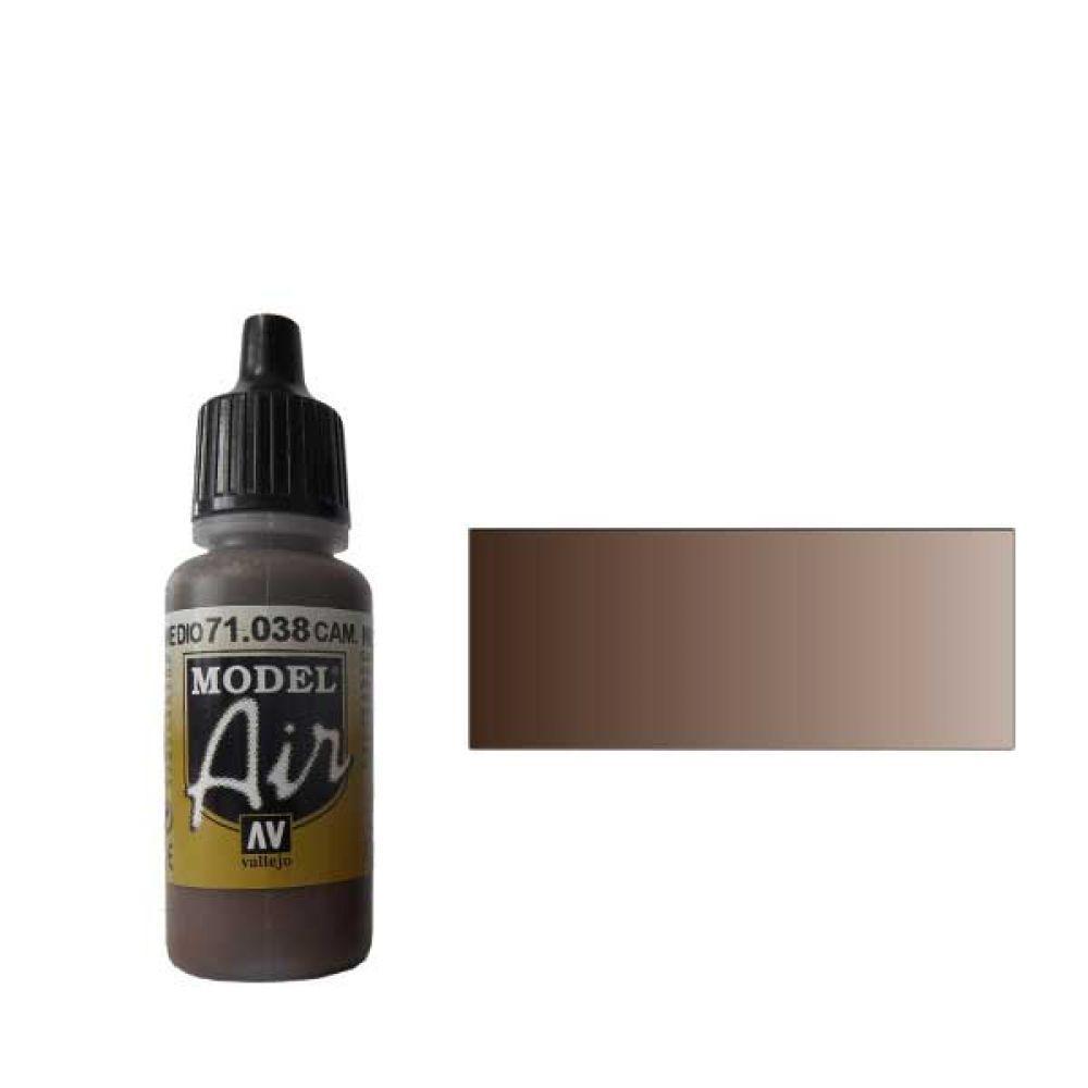 038 Краска Model Air Комуфляжный коричневый средний (Cam. Medium Brown) укрывистый, 17мл