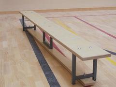 Скамейка гимнастическая на металлических ножках 2.5м (многослойная клеенная древесина)