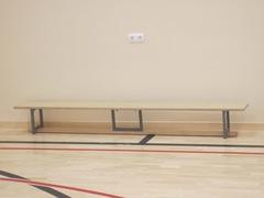 Скамейка гимнастическая на металлических ножках 3.0м (многослойная клеенная древесина)