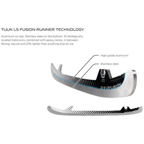 Лезвия для коньков BAUER TUUK LIGHTSPEED FUSION SR Runner (пара)