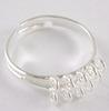 Основа для кольца с петельками (10 петелек) (цвет - серебро) ()