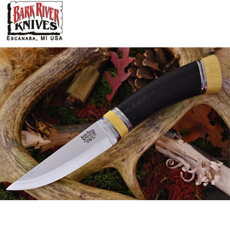 Нож Bark River Scandi модель Black Canvas Micarta Ivory Spacer