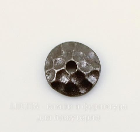 """Шапочка для бусины TierraCast """"Hammertone"""" (цвет-черный никель) 6х2 мм"""