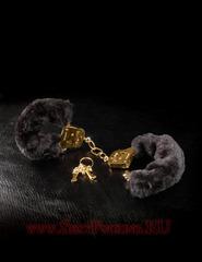 Сексуальные наручники GOLD DELUXE FURRY CUFFS