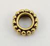 """Рамка для бусины круглая TierraCast """"Бусинки"""" (цвет-античное золото) 9х3 мм"""