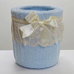 Ведро для мусора в ванную 20 Old Florence Buratto голубое