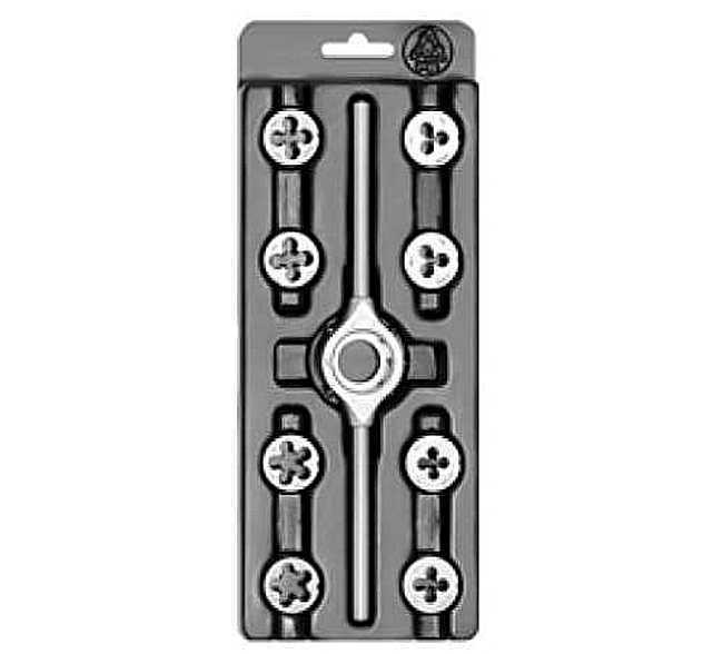 Набор для нарезания резьбы MINI-1 (плашки) NO Bucovice