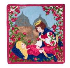 Полотенце детское 25x25 Feiler Marchen Sleeping Beauty 135 красное