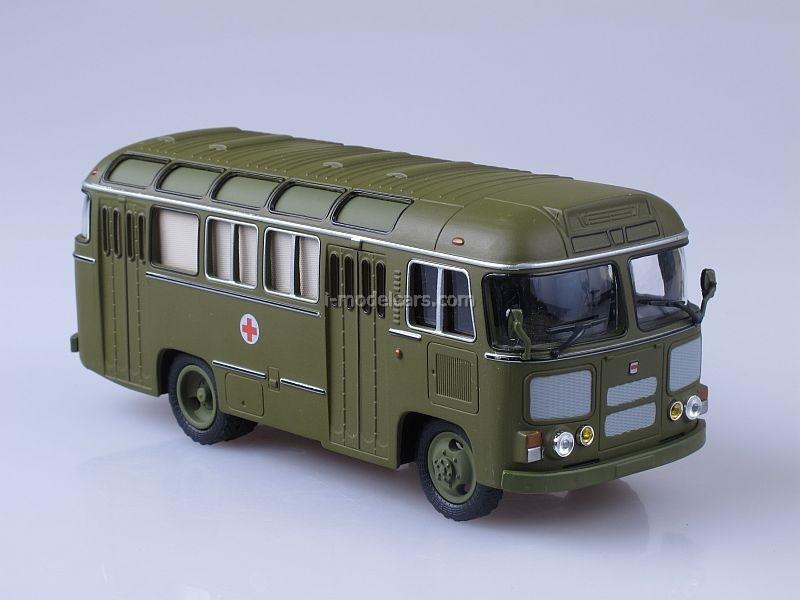 PAZ-672M sanitary Soviet Bus 1:43