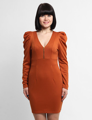 0040-1 платье горчичное