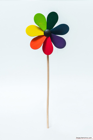Вертушка ветряная Цветик-семицветик (Grunspecht)