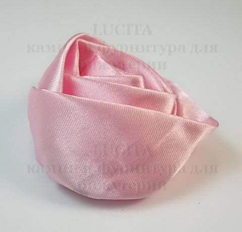 Роза атласная розовая 50 мм ()
