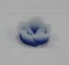Кабошон акриловый двухцветный синий 13х6 мм