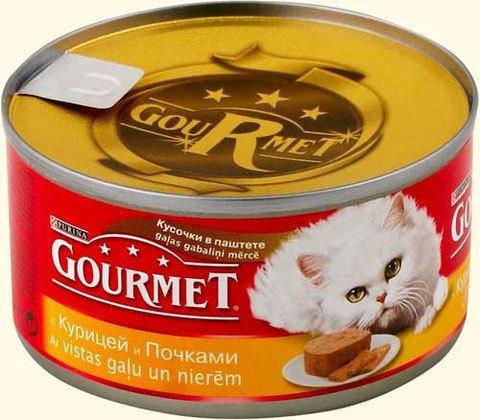 Gourmet Паштет с мясом птицы для кошек 85 г