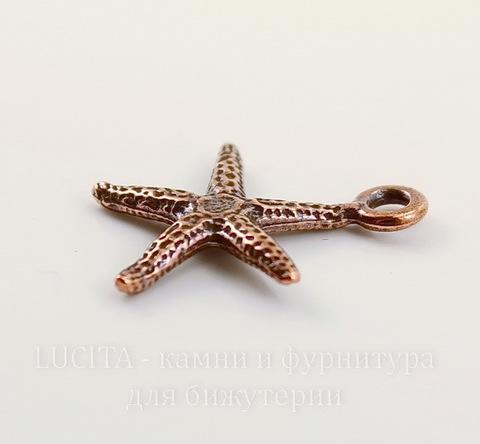"""Подвеска TierraCast """"Морская звезда"""" (цвет-античная медь) 21х18 мм"""