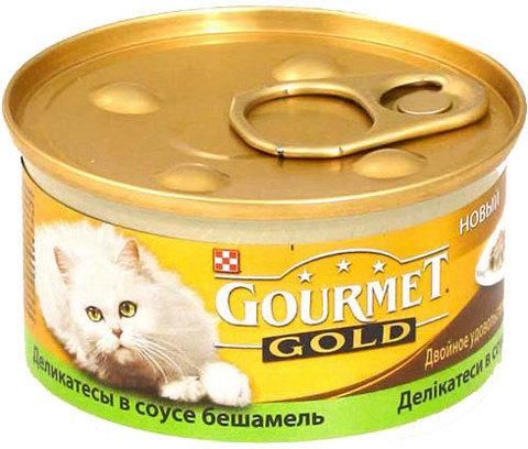 Gourmet Паштет с кроликом и печенью для кошек 85 г