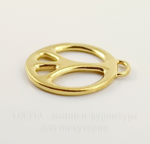 """Подвеска TierraCast """"Пацифик"""" (цвет-золото) 27х24 мм"""
