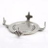 """Сеттинг - основа """"Черепашка"""" для камеи или кабошона 20 мм (оксид серебра) ()"""