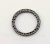 """Коннектор - кольцо TierraCast """"Hammertone"""" 19 мм (цвет-черный никель)"""