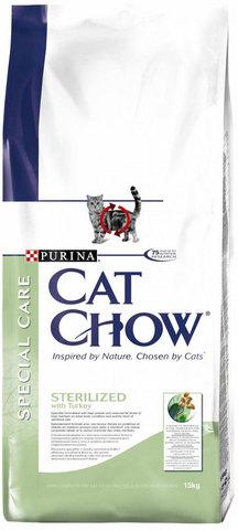 Cat Chow Для кастрированных котов и стерилизованных кошек (special Care - Sterilised) 15 кг