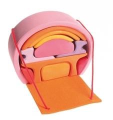 Домик мобильный розово-оранжевый (Grimm's)