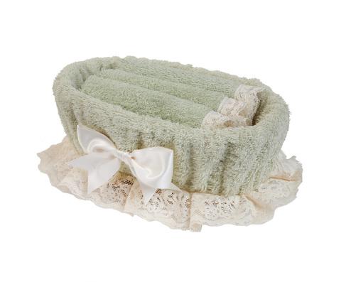 Набор полотенец 3 шт Old Florence Валансье и корзинка зеленый