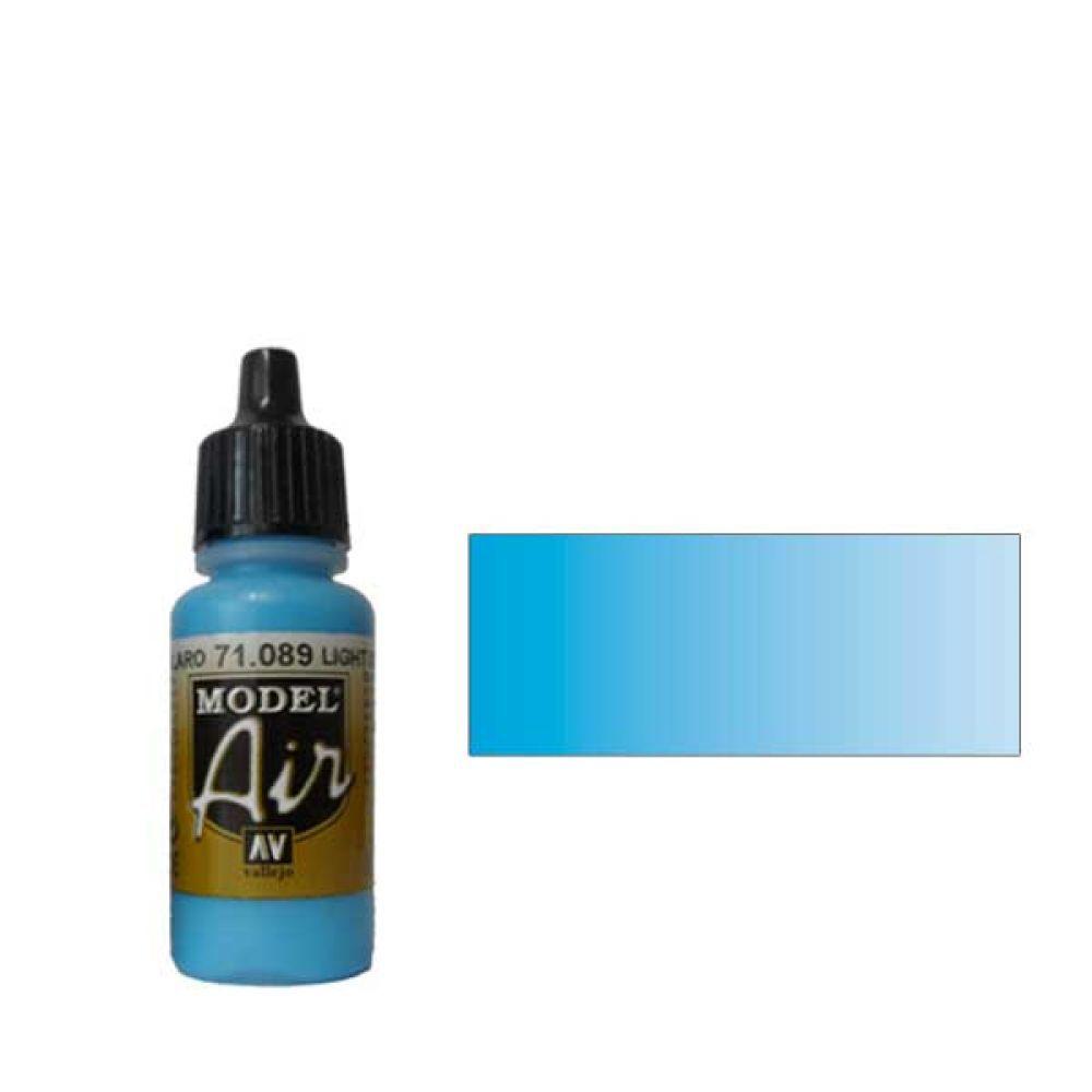 089 Краска Model Air Морской синий светлый (Light Sea Blue) укрывистый, 17мл