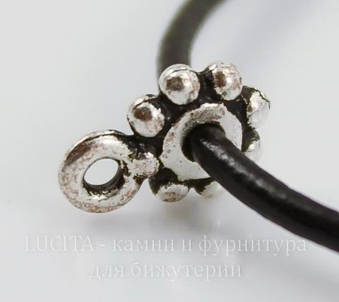 "Бейл TierraCast ""Бусинки"" 10х7х2 мм (цвет-античное серебро)"