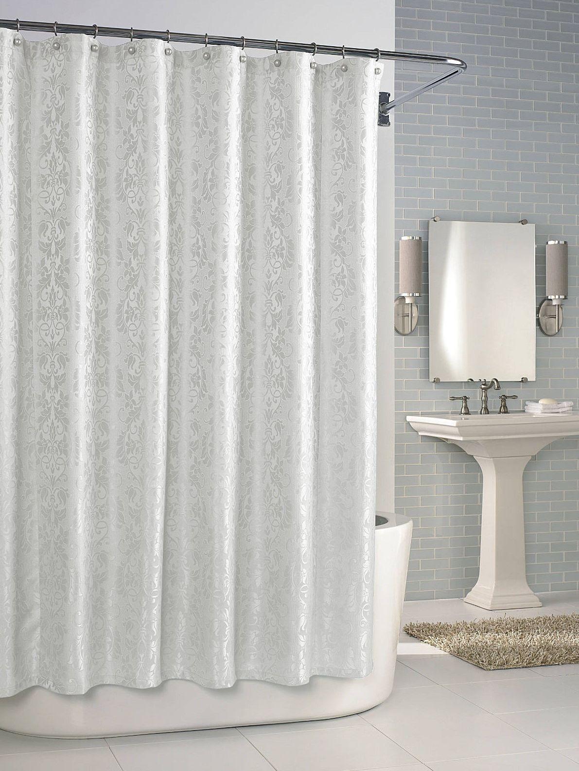 Элитная шторка для ванной Parisian Cameo White от Kassatex