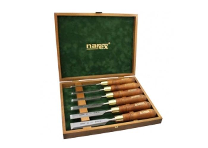 Набор стамесок WOOD LINE PLUS 6 шт в деревянном ящике Narex 853200