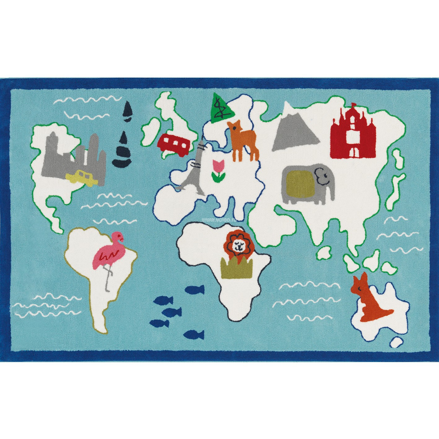 Ковер Designers Guild Kids Rugs Around The World DHR172/01, интернет магазин Волео