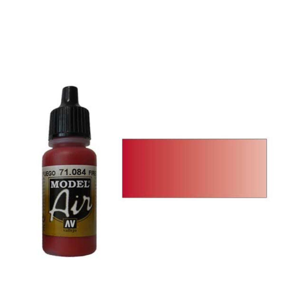 084 Краска Model Air Огненно-красный (Fire Red) укрывистый, 17мл
