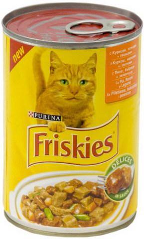 Friskies Консервы с курицей, почками и овощами в соусе для кошек 400 г