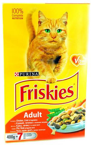 Friskies С курицей, печенью и овощами для кошек 400 г
