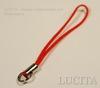 Шнур для мобильного телефона,  цвет - красный  , 45 мм, 5 штук ()