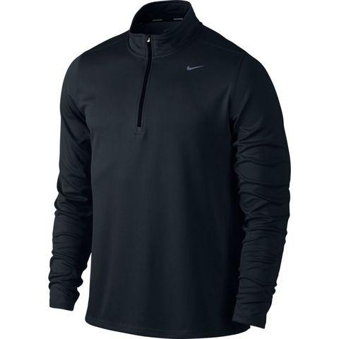 Футболка Nike Racer LS HZ Mid /Рубашка беговая чёрная