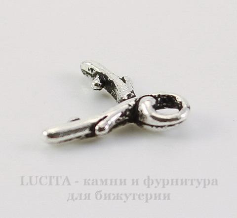 """Держатель для кулона TierraCast """"Briolette"""" маленький 11х9 мм (цвет-античное серебро)"""