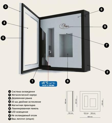 Винная витрина настенная IP Industrie QV12-B3150B