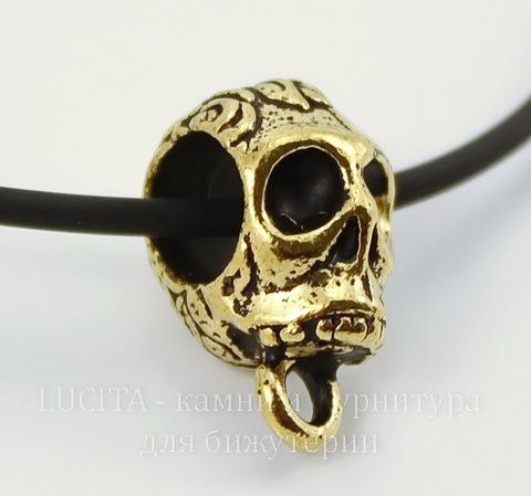 "Бейл TierraCast ""Череп"" 17х9 мм (цвет-античное золото)"