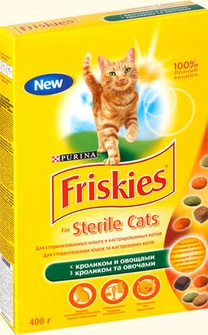 Friskies Для стерилизованных кошек с кроликом и овощами (sterilised with Rabbit) 400 г