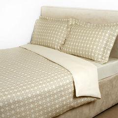 Постельное белье 2 спальное Roberto Cavalli Basic бежевое