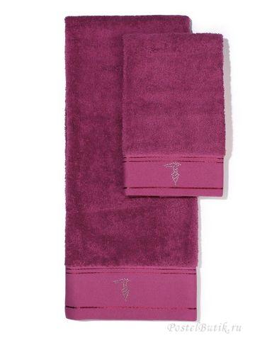 Набор полотенец 2 шт Trussardi Luxor малиновый