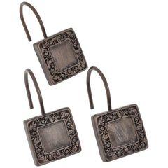 Набор из 12 крючков для шторки Lakewood Bronze от Carnation Home Fashions