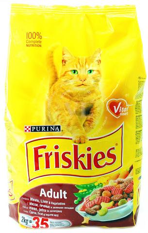 Friskies С мясом, печенью и овощами для кошек 10 кг
